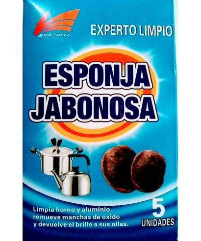 ESPONJA JABONOSA EXPERTO LIMPIO CAJA DE 5 UN