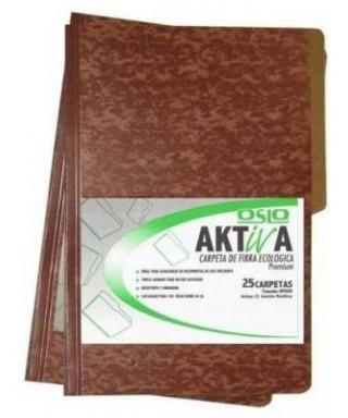 Carpeta Marrón de fibra Aktiva, Tamaño Oficio/10 unidades