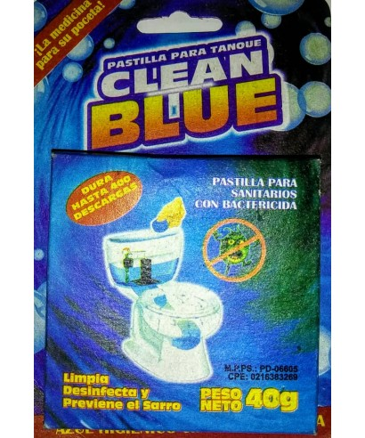 PASTILLAS PARA TANQUES CLEAN BLUE 40 GR