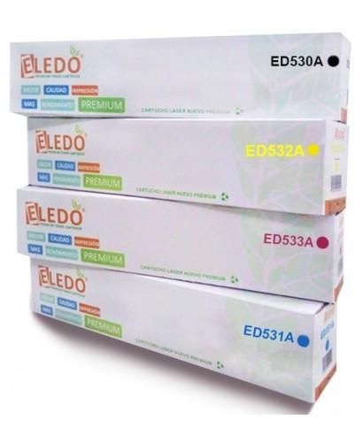 Toner Eledo Compatible HP/CANON CC532A (304A) (118)