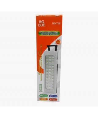 Lámpara De Emergencia Recargable Luz Led HG DUE