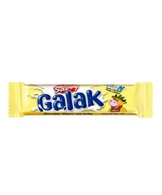 galax- CHOCOLATE DE LECHE BLACNCO SAVOY 70gr X UND