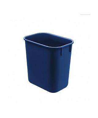 Papelera plástica azul...