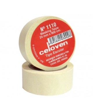 TIRRO MASKING TAPE No 1110 24 MM X 900 CM CELOVEN ESCOLAR