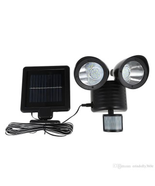 REFLECTOR LED SOLAR CON SENSOR DE MOVIMIENTO 22LED