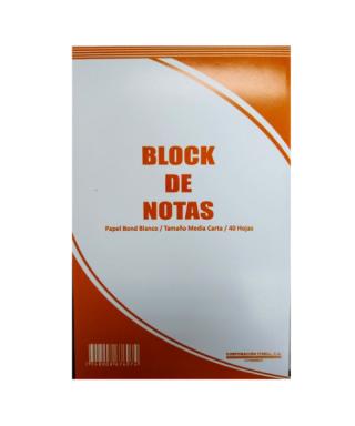 BLOCK BLANCO DE NOTAS MEDIA...