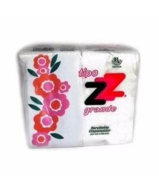 SERVILLETAS ZZ GRANDE TIPO CAFETIN PAQ DE 160 UN