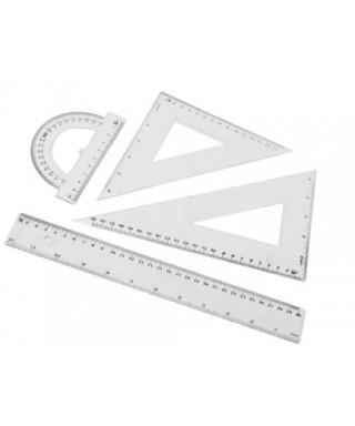 Juego geométrico plastico PRINTA/OFIART , 30 cm.