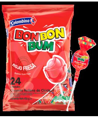 CHUPETA BON BON BUM FRESA