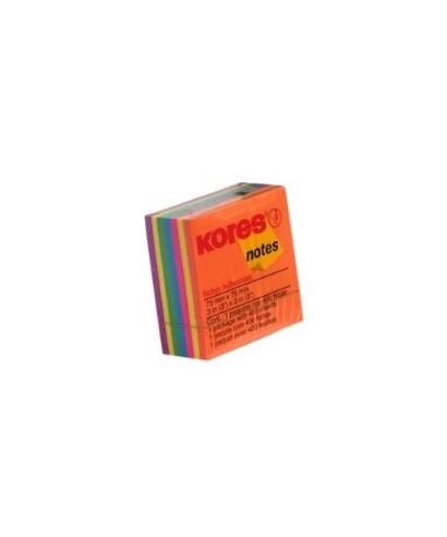 Taco de notas adhesivas, Kores, 7 colores
