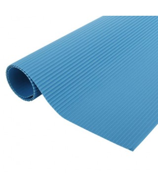 Cartulina Corrugada Azul 1...