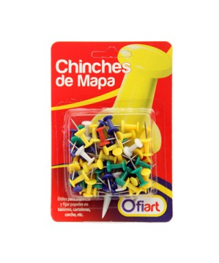 Chinches de Colores x 50 OFIART