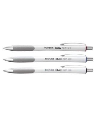 Bolígrafo PaperMate kilométrico RT 700, color blanco x 12 unid.
